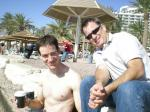 After a swim in the Red Sea